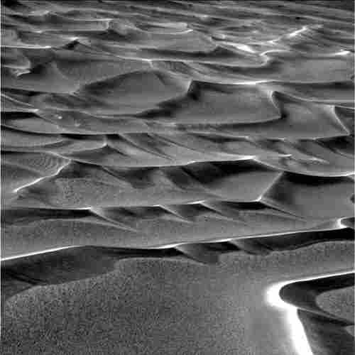 Dunes that resemble the Sahara line the floor of Endurance Crater, 2004.