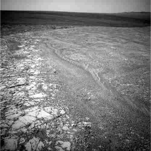 Opportunity recorded this view of the western edge of Cape York, 2011.