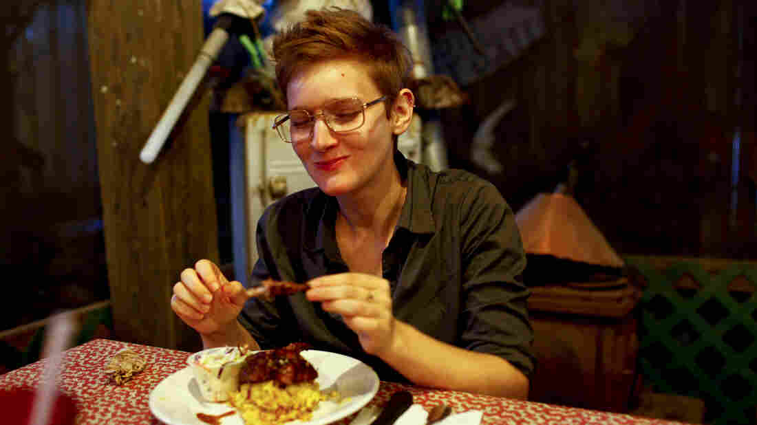 NPR's Selena Simmons-Duffin breaks years of vegetarianism to eat a barbequed fruit bat.