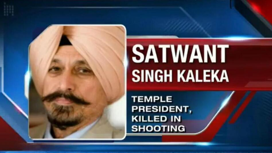 Satwant Singh Kaleka, in an image broadcast by Milwaukee's TMJ4-TV. (TMJ4)