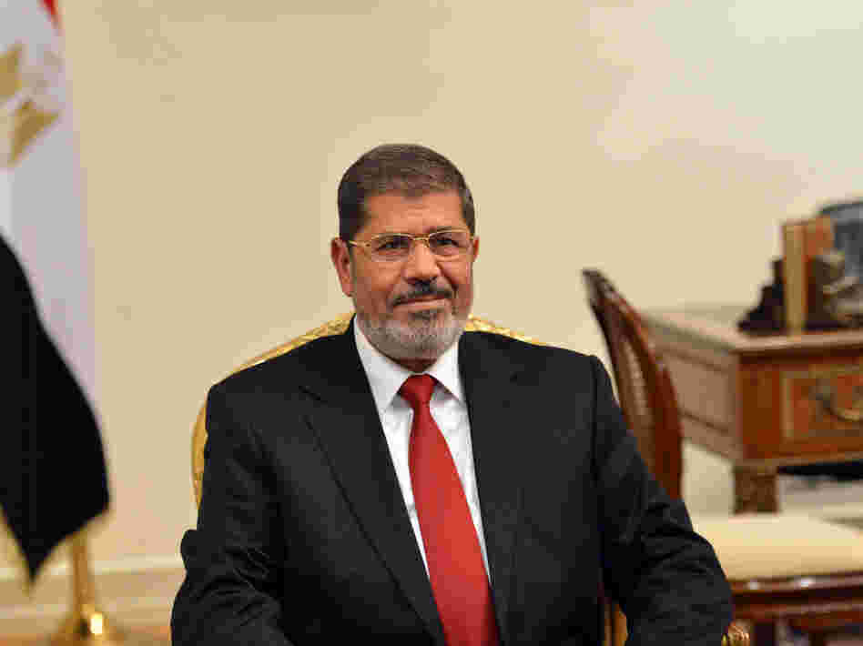 Egyptian President Mohamed Morsi (shown here July 2) has said that he'll restore the country's security within his first 100 days in office.