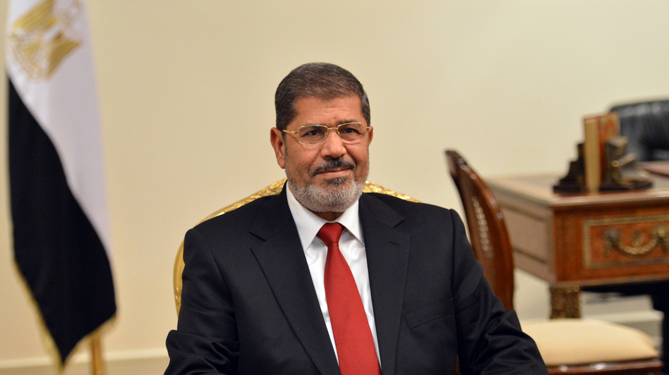 Egyptian President Mohamed Morsi (shown here July 2) has said that he'll restore the country's security within his first 100 days in office. (AFP/Getty Images)