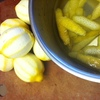 Boiling lemon rinds for President Harding's lemon pineapple fruit punch, called a squall.