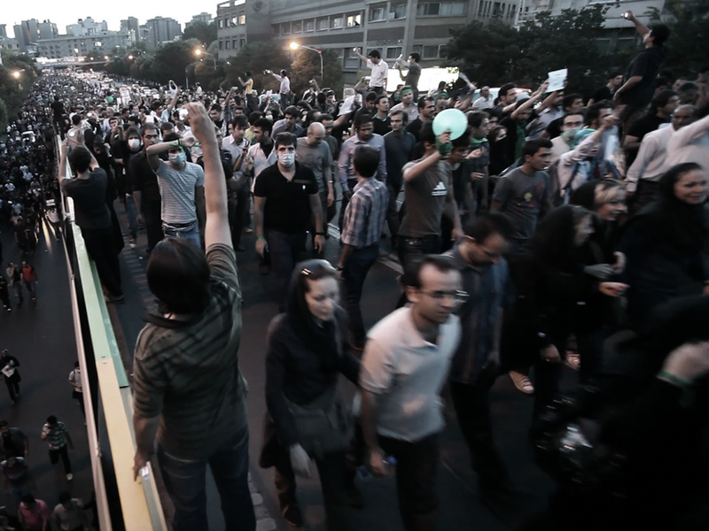 The protests were firmly stamped down by Mahmoud Ahmadinejad, who went on to win what were widely considered to be rigged elections.