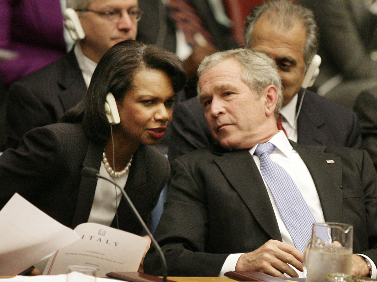 an evaluation of the condoleezza rices influence during the bush administration Condoleezza rice served as united states secretary of state under george w bushshe was preceded by colin powell and followed by hillary clintonas secretary of state she traveled widely and initiated many diplomatic efforts on behalf of the bush administration.