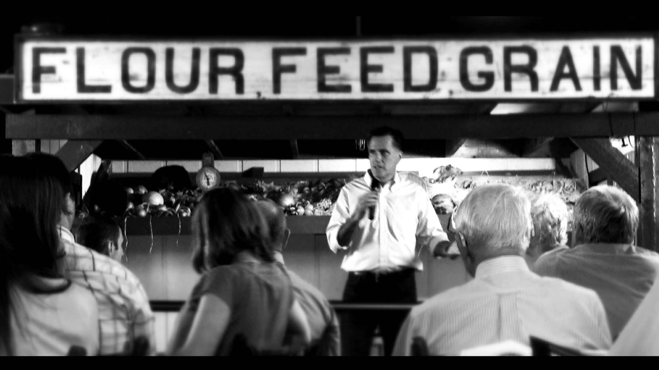 Republican presidential candidate Mitt Romney delivers remarks during a campaign stop at the Machine Shed restaurant  in Rockford, Ill., on March 18.