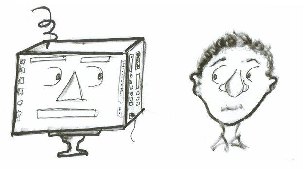 Computer and human.