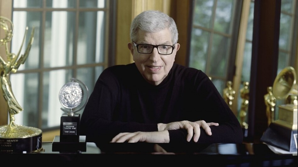 Marvin Hamlisch, with some of his many awards. (Courtesy of the artist)