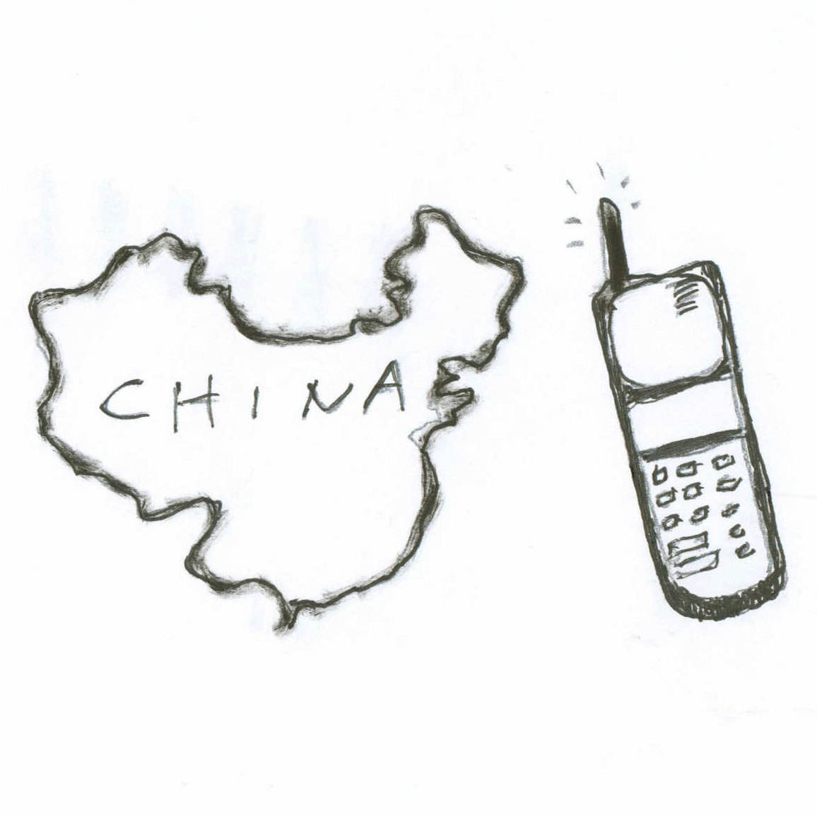 China and cellphone.