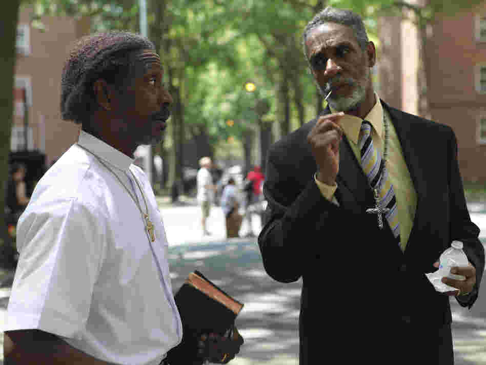 Enoch shares a word with Deacon Zee (Thomas Jefferson Byrd). Clarke Peters is powerful as Enoch and becomes the focus of the film as it goes on.