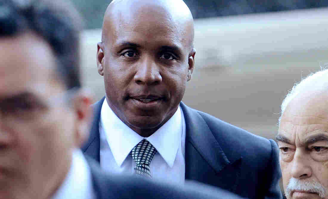 Former baseball player Barry Bonds arrives at federal court for sentencing in Dec. 2011. Bonds was convicted of obstructing a government investigation into steroid use among athletes.
