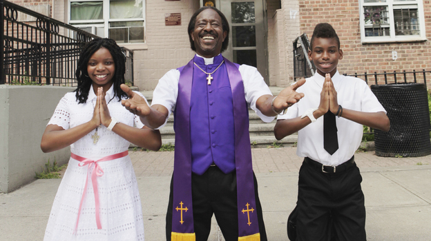 In Spike Lee's Red Hook Summer,  Flik (Jules Brown, right) moves in with his bishop grandfather (Clarke Peters) for the summer and meets Chazz (Toni Lysaith). The movie is another in a string of Brooklyn-set stories from Lee. (40 Acres and a Mule Filmworks)