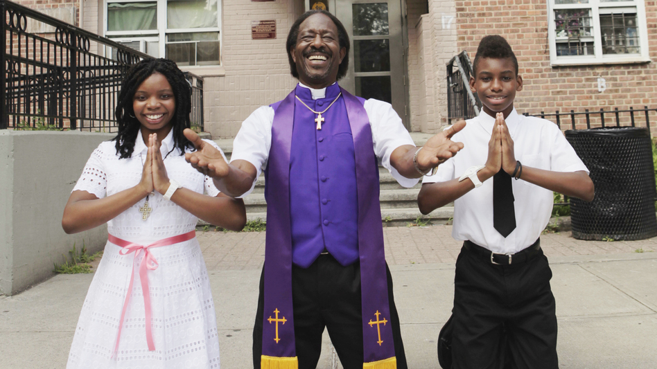 In Spike Lee's <em>Red Hook</em> <em>Summer</em>, <em> </em>Flik (Jules Brown, right) moves in with his bishop grandfather (Clarke Peters) for the summer and meets Chazz (Toni Lysaith). The movie is another in a string of Brooklyn-set stories from Lee.