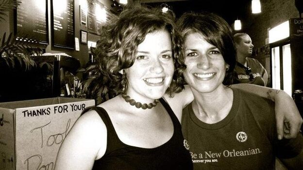 Ally and Carla, co-founders of the Community Glue Workshop. (Courtesy of  Community Glue Workshop)