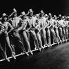 Actors onstage in A Chorus Line, around 1980.