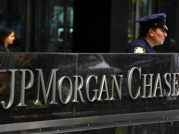 The entrance to the JP Morgan Chase World Headquarters on Park Avenue.