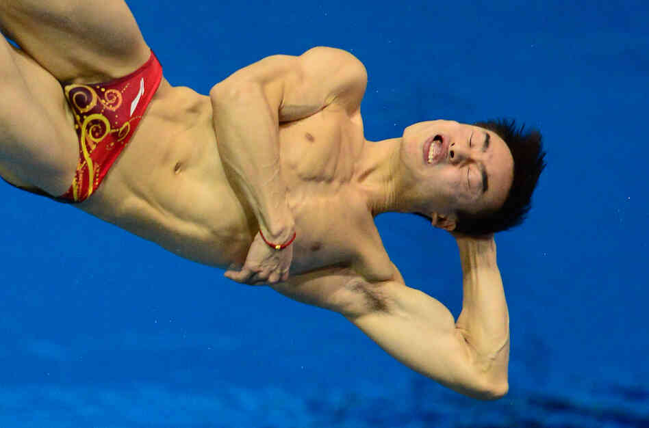 Malaysia's Yeoh Ken Nee competes in the men's 3-meter springboard diving semifinals. He finished 10th in the final.