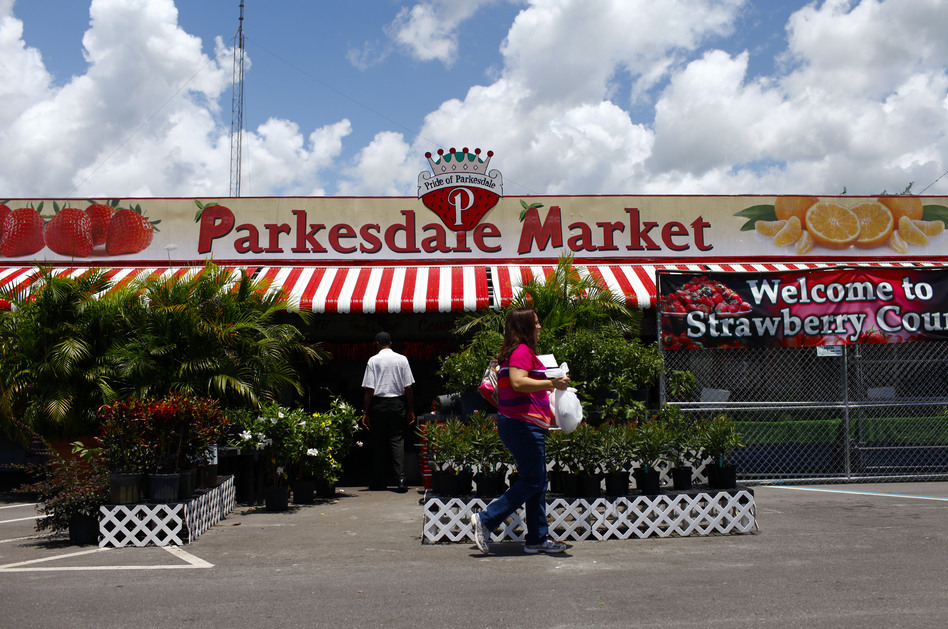 Founded in 1956, the Parkesdale Farm Market is the largest family-operated strawberry market in Florida. (NPR)