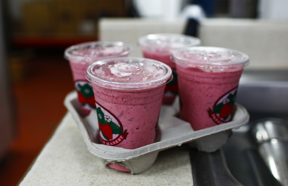 Jim Meeks says the key to winning the election is drinking a Parkesdale strawberry milkshake. He plans to vote for Republican Mitt Romney and his daughter-in-law plans to vote for President Obama. (NPR)