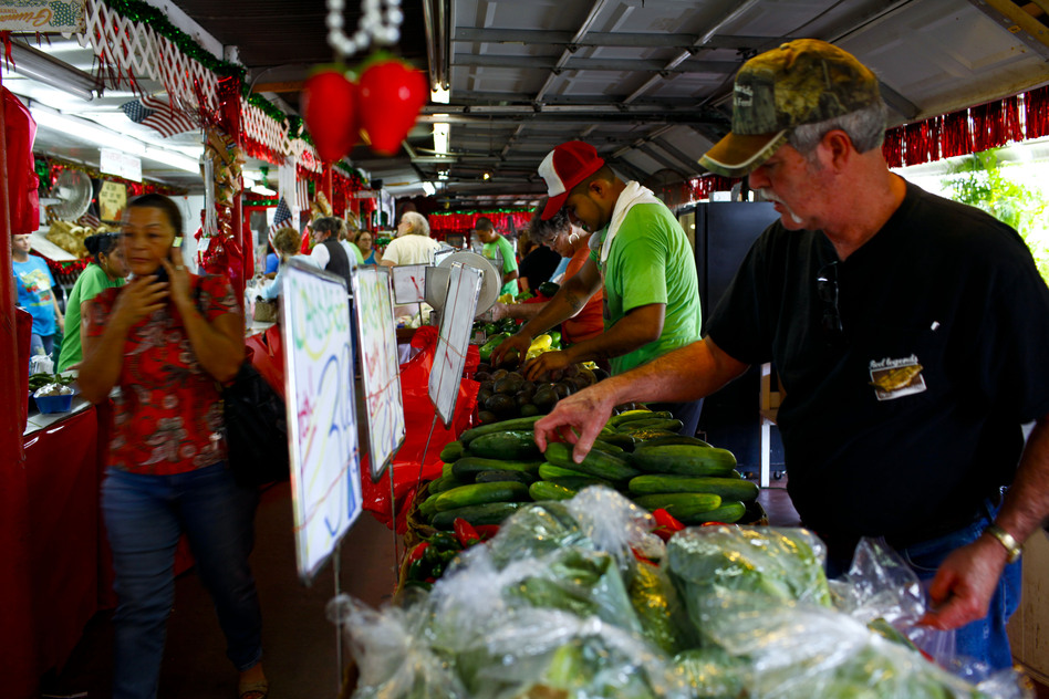 The market has grown from a simple fruit stand to a full-blown farmers market, open to the public seven days a week. (NPR)