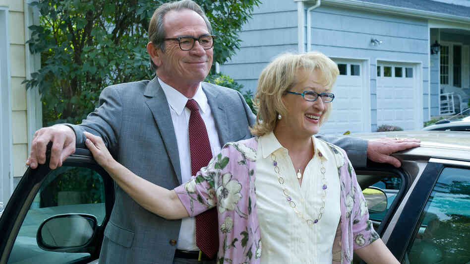 Arnold (Tommy Lee Jones) reluctantly agrees to go to couples therapy with his wife, Kay (Meryl Streep), in Hope Springs. The film, directed by The Devil Wears Prada's David Frankel, is a refreshingly subdued take on marital conflict.