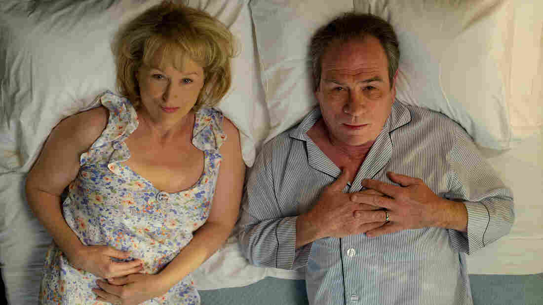 In Hope Springs, Kay (Meryl Streep) forces Arnold (Tommy Lee Jones) into a week of couples therapy after she gets tired of — among other things — sleeping in separate bedrooms.