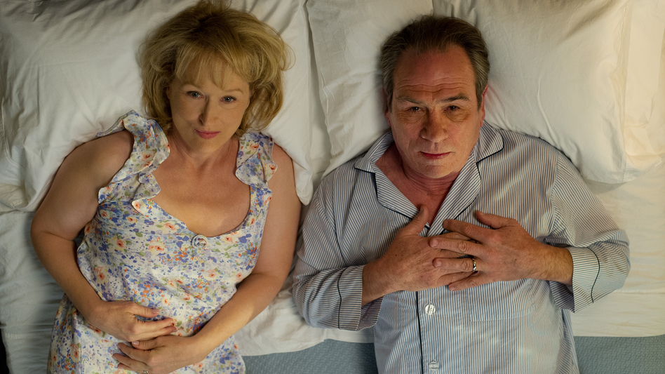 In Hope Springs, Kay (Meryl Streep) forces Arnold (Tommy Lee Jones) into a week of couples therapy after she gets tired of — among other things — sleeping in separate bedrooms. (Sony Pictures)