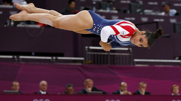 Gymnast Aly Raisman became the first American woman to win a gold in the floor exercise, with her victory at the London 2012 Games.