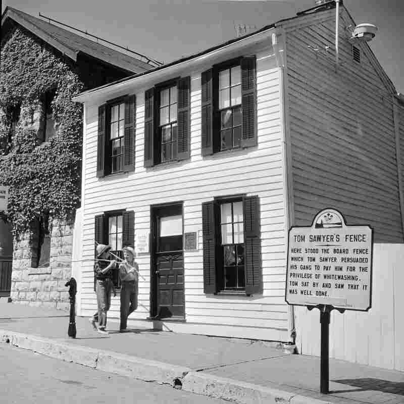 Twain's boyhood home in Hannibal, pictured circa 1955, is now a museum.
