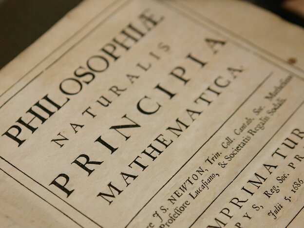 A copy of Philosphiae Naturalis Principia Mathematica b