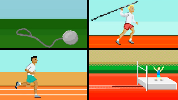 A video pays homage to the Olympic Games — and to the video games of the 1980s. It's one of many inventive videos around the web, inspired by the London Games. (Flikli)