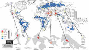 Check out some of the world's most important - and threatened - aquifers. Click to see a high-resolution version of this map.