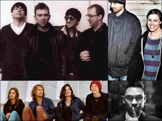 Blur (clockwise from upper left), Drop Electric, Miguel, Tame Impala