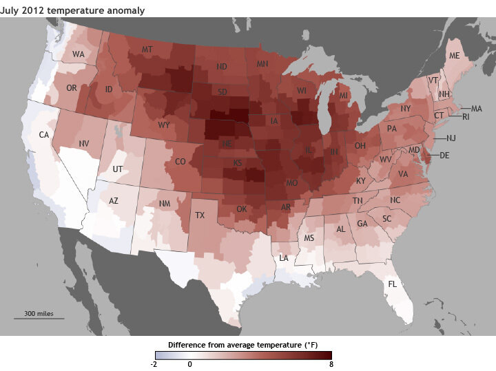 How Hot Was It? July Was Warmest Month On Record For U.S. : The Two ...