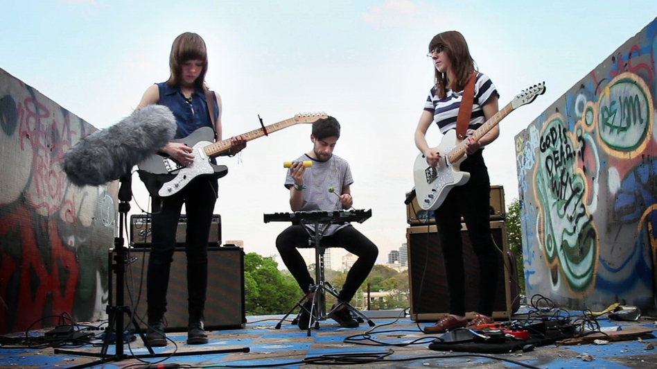 Now, Now performs for a Field Recording video at Graffiti Park in Austin, Texas, during SXSW in 2012 (NPR)