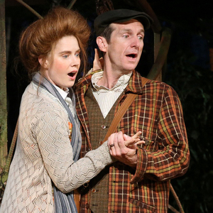 Amy Adams and Denis O'Hare are the Baker and the Baker's Wife, whose desperation to have a kid drives the fractured fairy-tale plot of Into the Woods.