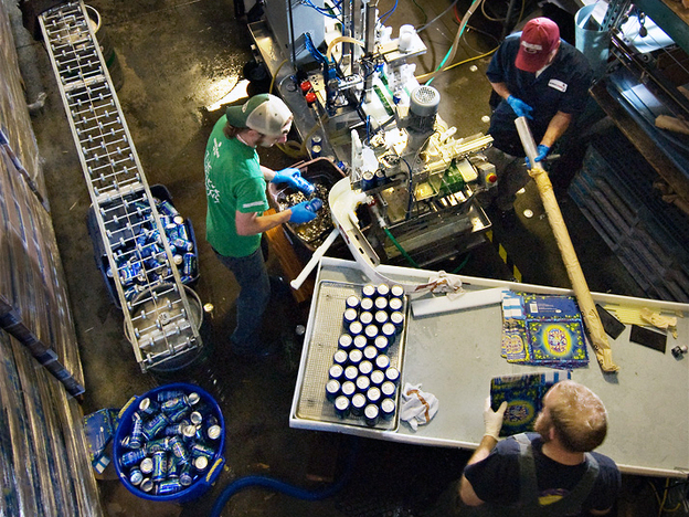 Microbrewery Boulder Beer uses Mobile Canning's equipment to pack its brews. (Mobile Canning)