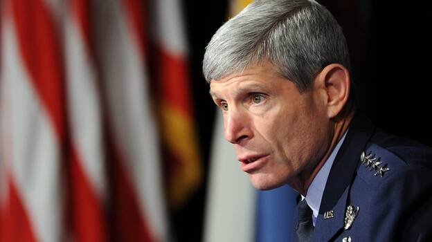 Gen. Norton Schwartz (shown here in October 2010) is stepping down as the top U.S. Air Force officer. (AFP/Getty Images)