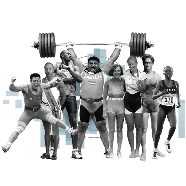 Promo image: Olympic bodies past and present.