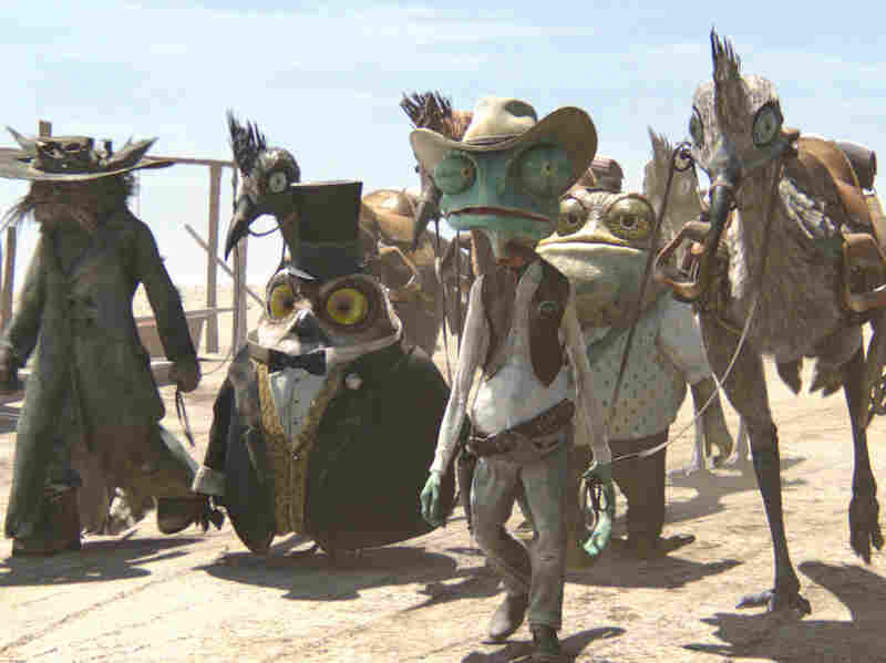 In Rango, the town of Dirt goes through a drought caused by greedy corporations and politicians, not by nature.