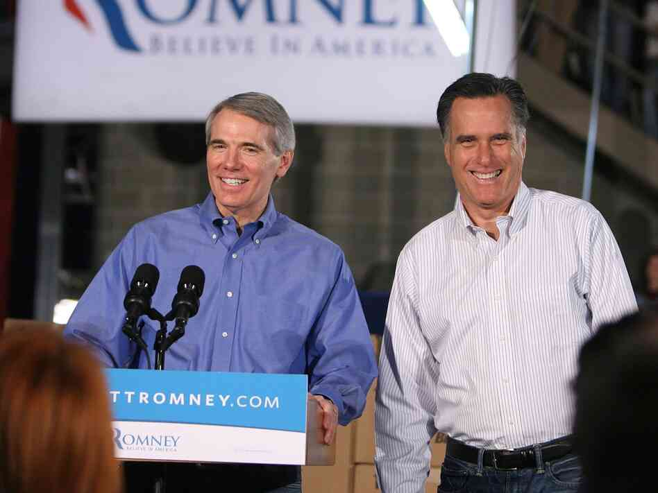 Senator Rob Portman, R-OH, introduces Republican presidential candidate Mitt Romney  on February 20 in Cincinnati, Ohio.