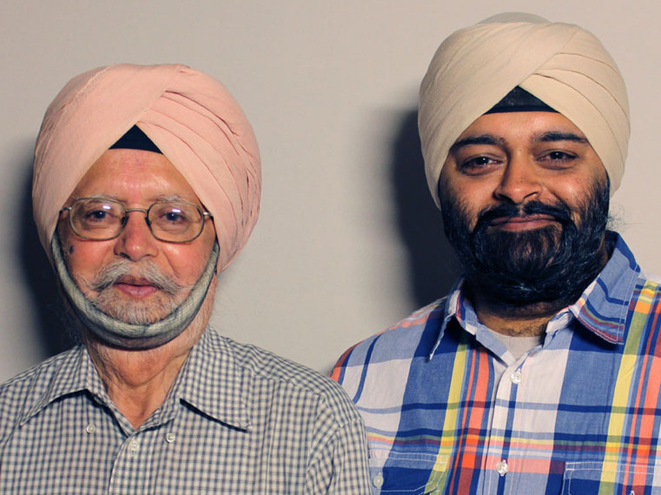 Surinder Singh and his son Rupinder visited StoryCorps in San Francisco in April.
