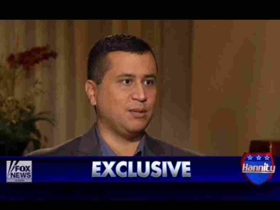 George Zimmerman during a July interview with Fox News' Sean Hannity.