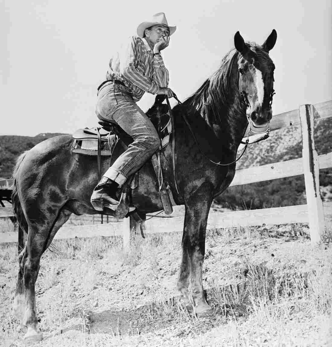 Gary Cooper, in the saddle