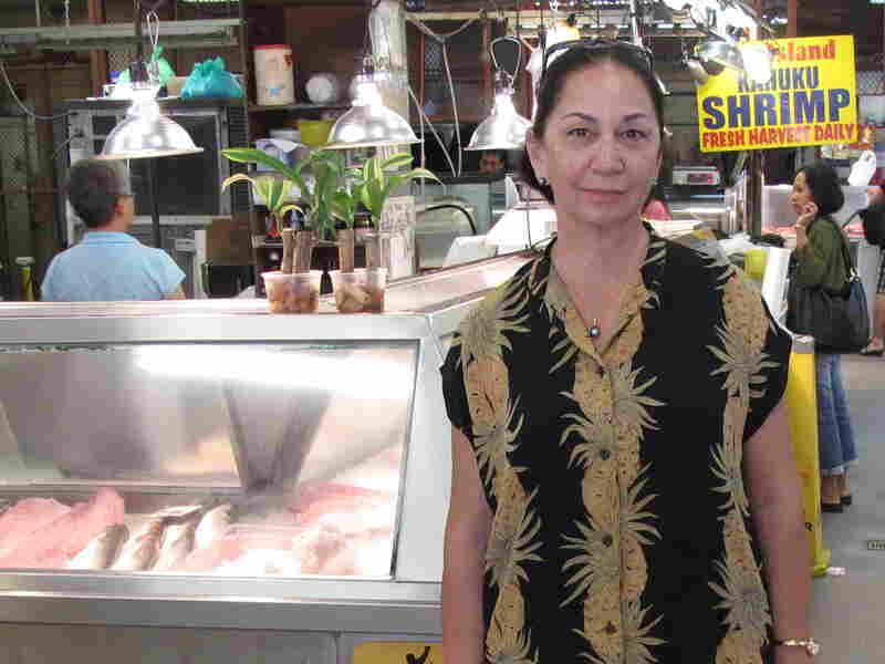Kneubuhl at the famous Oahu Public Market.