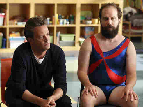 Matthew Perry and Brett Gelman of NBC's Go On appear in a promo shot especially for the Olympics.