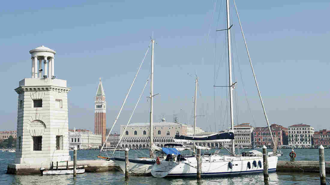 The quayside at Compagnia della Vela in Venice, Italy, is largely deserted. Authorities have targeted yacht owners as part of a crackdown on tax evasion, and many boat owners have sailed to other countries in the Mediterranean.