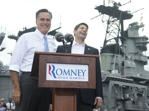 Republican presidential candidate Mitt Romney a