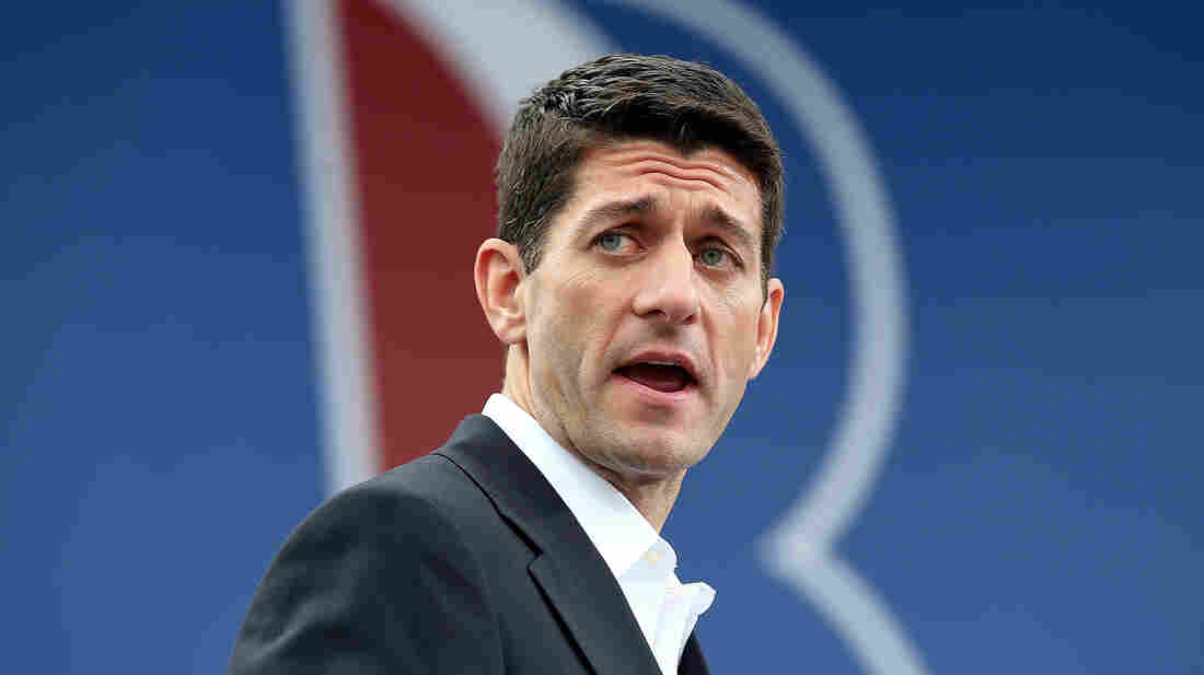 Newly announced Republican vice presidential candidate Paul Ryan speaks during a campaign rally in Norfolk, Va., on Saturday.