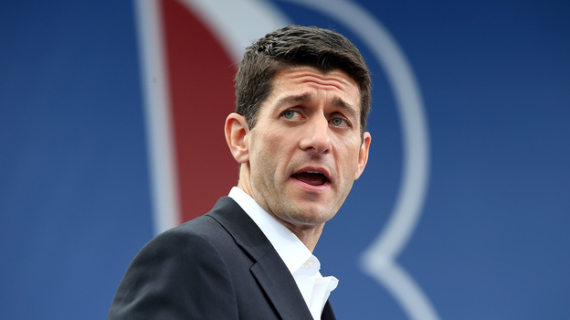Newly announced Republican vice presidential candidate Paul Ryan speaks during a campaign rally in Norfolk, Va., on Saturday. (Getty Images)